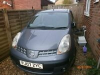 nissan note sve 2007 auto excellent condition and drive very smooth,full mot history,full hpi clear