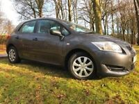 *12 MTHS WARRANTY*2008(08)TOYOTA AURIS 1.4 VVTI T2 5DR WITH ONLY 40,000 MILES*