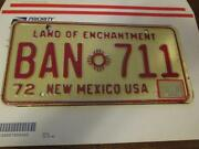 Vintage New Mexico License Plate