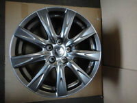 """2 used Infiniti Nissan AWD 18"""" 9 spoke alloy wheels with caps"""