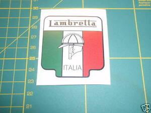 LAMBRETTA Vespa Scooter ITALIA FLAG SHIELD Sticker GP,TV,LI,SX,GT. 200