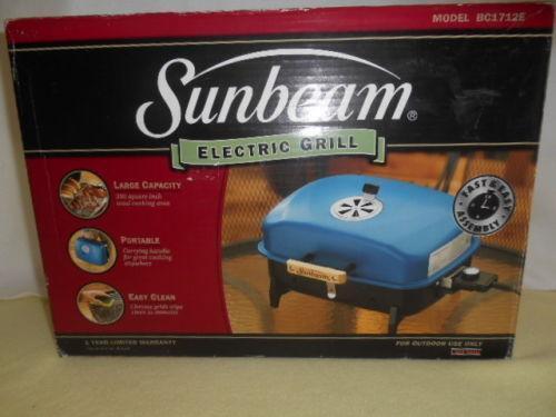 Sunbeam Electric Indoor Grill Ebay