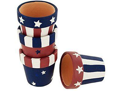 Americana Terra Cotta Napkin Rings Holders Set (set of - Napkin Ring Holders