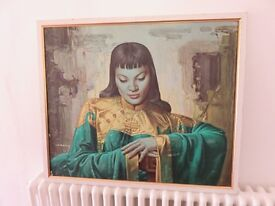 Vladimir Trenchikoff reproduction painting of the Chinese Girl by the King of Kitsch-Framed