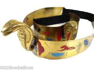 Cleopatra Dance Costume (Belly Dance Costume Egyptian Brass Cleopatra Cobra Crown & Armlet Halloween)