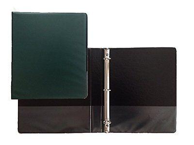 Hunter Green Vinyl Standard 3-ring Binders 1-inch For 8.5 X 11 Pack Of 12
