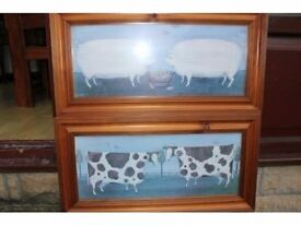 Beautiful Matching Cow & Pig Pictures
