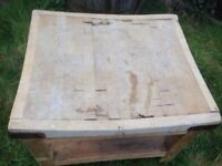Vintage Antique Butchers Kitchen Block Chopping Board Table Industrial Primitive