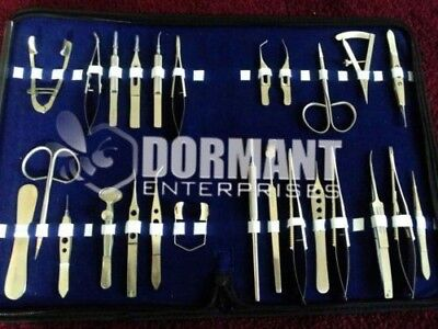 O.r Grade Basic Ophthalmic Eye Micro Surgery Surgical Instruments Set A 26 Pcs