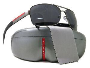 NEW Authentic PRADA POLARIZED Mens Sport Sunglasses PS 54IS SPS 54I 5AV6S1 541 S