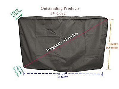 Weather Resistant Protective Outdoor Television Cover Sony XBR43X830C  TV Black