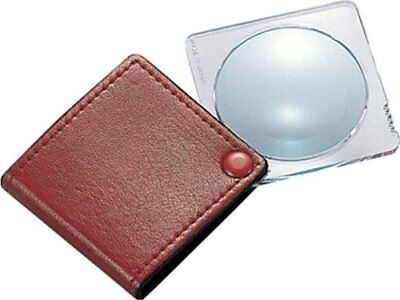 SHINWA Pocket Magnifier 3.5X Magnifying Loupe Reading Glass Body with Case 75535