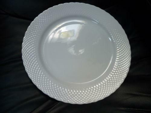 White Charger Plates Ebay