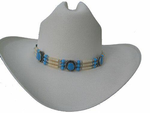 Buffalo Bone Hat Band Choker Beaded Agate Stone Tribal Native American Necklace