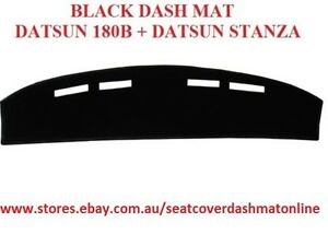 DASH MAT, BLACK DASHMAT, DASHBOARD COVER FIT DATSUN 180B + DATSUN STANZA, BLACK