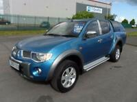 MITSUBISHI L200 DIAMOND 4X4 AUTO DIESEL SNUG TOP LEATHER SAT NAV DVD IN ROOF FSH