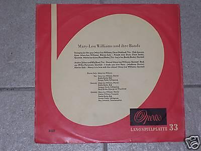 "Mary Lou Williams und ihre Bands / OPERA 3121, 10 "" RAR"
