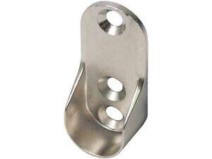 8 hafele wardrobe rail end support brackets oval ebay. Black Bedroom Furniture Sets. Home Design Ideas