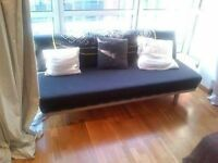 A Lovely, MUJI 2 or 3 Seater Sofa Bed. Double Bed. Guest Bed. MUJI Sofabed. Single Bed. Cost £695
