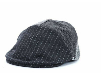 Block Headwear Bobbi Ivy Driver Gatsby Cabbie Newsboy Black Stripes Hat Cap Lid ()
