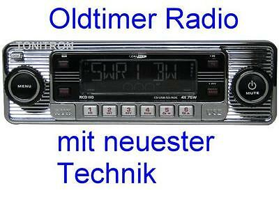 "Retro Look Radio""altes Autoradio""chrom Oldtimer Mercedes Benz W107 SL R107 SLC"