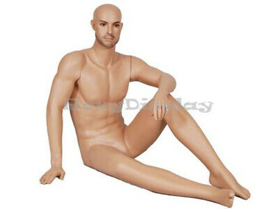 Realistic Male Mannequin With Sitting Pose Mz-glm1