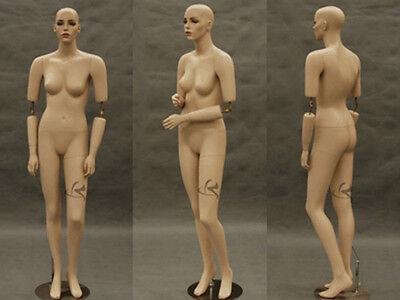 Flexible Arms Female Fiberglass Mannequin Pretty Face Dress Form Display Md-sara