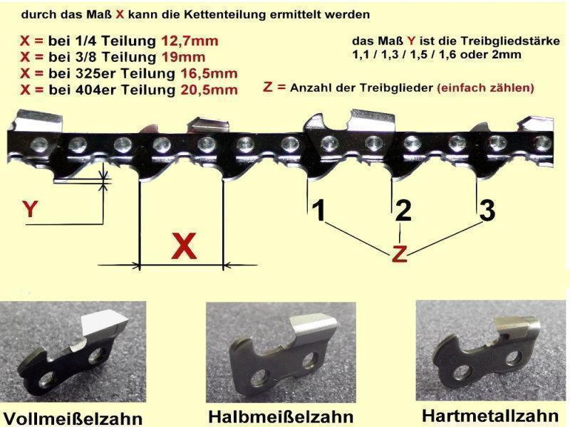 """60 Treibglieder VM 3//8/"""" 2 Sägekette für STIHL 40cm   1.6"""