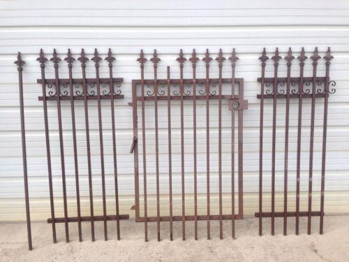 Antique wrought iron fence ebay