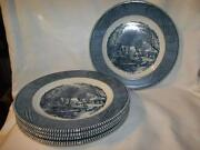 Currier Ives Dinner Plates