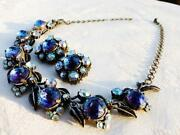 Vintage Purple Rhinestone Necklace