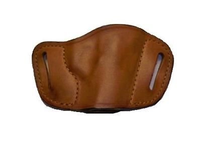 380 Leather Belt Slide Holster - Pro-tech OWB Tan Leather Belt Slide Gun Holster For Glock 42,380