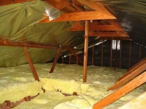 Loft Roof Insulation Fiberglass Wool Type Bagged in Clean Reusable Condition
