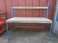 LARGE PACKING TABLE / WORK BENCH - USED / GOOD CONDITION - ONLY £55 !!WOW!!