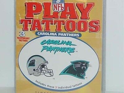 NFL Temporary Tattoos (3 Packs) Carolina Panthers, NEW](Carolina Panthers Tattoo)