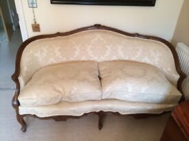Louis XV Antique Settee Sofa chair. Late 19c/early 20c
