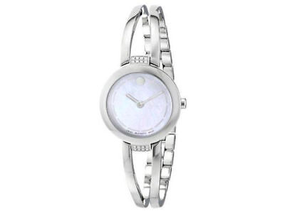 Movado Women's 0606813 Amorosa Duo Mother of Pearl Dial Bangle Watch-Silver