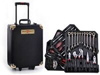 399 pieces Tool box case with Ratchet Black Gold