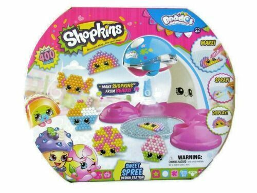 Shopkins Sweet Spree Design Station Beados Kids Craft Kit With Drying Tool New