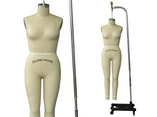Professional Pro Female Working Dress Form Mannequin Full Size 8 ...