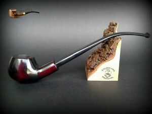 WOODEN TOBACCO SMOKING PIPE  CHURCHWARDEN no 54 Red   LONG  PEAR + BOX