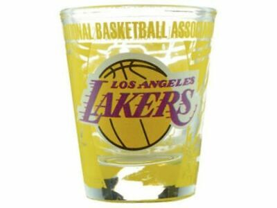 LOS ANGELES LAKERS NBA SHOT GLASS 2 OZ TEAM 3D WRAP AROUND LOGO-NEW FREE SHIPPIN Team Logo Shot Glass
