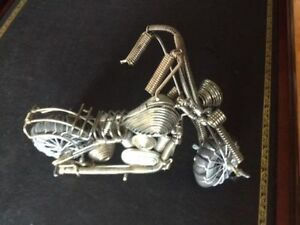 "Motorcycle Wire Art 8"" L x 6""H x 3.75"" W"