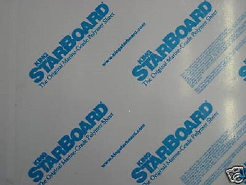 "1/4"" X 12"" X 27""  WHITE KING STARBOARD POLYMER HDPE SEA BOARD^"