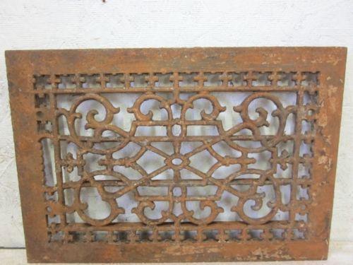 Antique Cast Iron Grate Floor Register Ebay