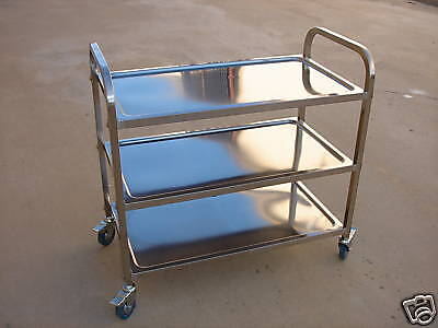 Stainless Steel Utility Bus Cart 400 Lbs Capacity L