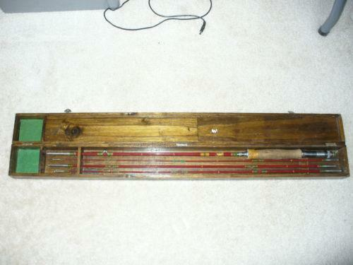 Vintage bamboo fly fishing rods ebay for Vintage fishing rod identification
