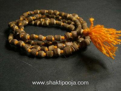 Tulsi Beads Japa Mala / Tulsi Knotted Necklace - Prayer / Yoga / Meditation