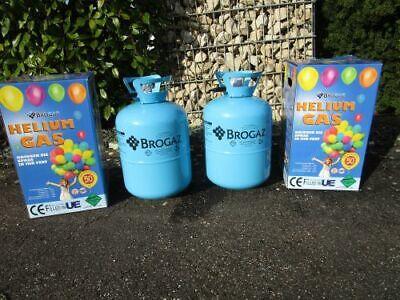 2 Stk.Helium-Gasflasche Ballon-Gas Einweg Set Angebot für ca 100 Luftballons