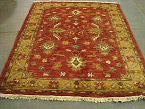 Wonderful Rare Chobi Zeigler Mahal Vege Dyed Rectangle Area Rug Hand Knotted Carpet (7.7 x 6.7)'